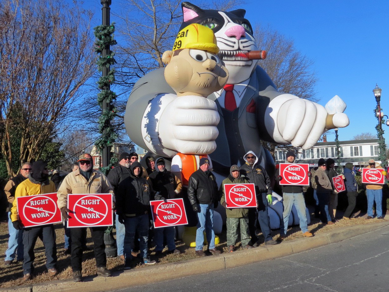 Teamsters Local 355 News Willys Turn Signal Wiring Diagram Members Protest Sussex County Del Right To Work Bill Joined A Large Contingent Of Labor Union And Anti Rtw Activists January 2